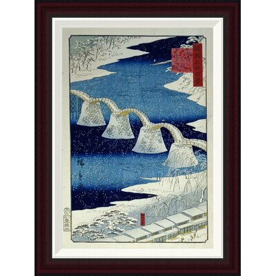 The Brocade Bridge In Snow by Hiroshige Framed Painting Print Size: 26