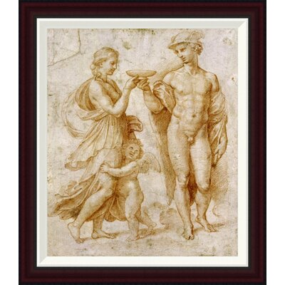 Mercury Offering The Cup of Immortality To Psyche by Raphael Framed Painting Print GCF-265383-22-288