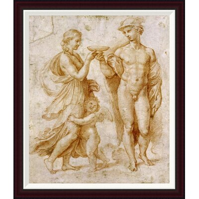 Mercury Offering The Cup of Immortality To Psyche by Raphael Framed Painting Print GCF-265383-30-288