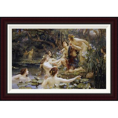 Hylas and The Water Nymphs by Henrietta Rae Framed Painting Print GCF-265379-22-288