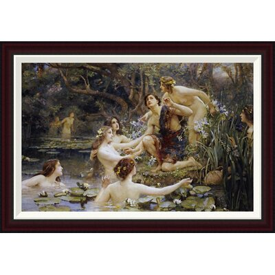 Hylas and The Water Nymphs by Henrietta Rae Framed Painting Print GCF-265379-30-288