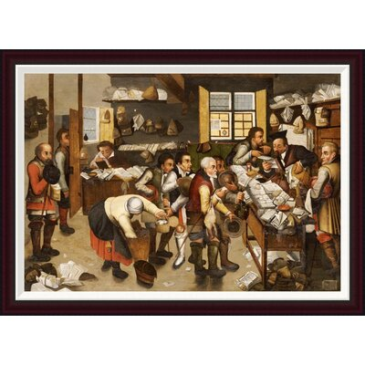 The Payment of Tithes by Pieter Bruegel the Elder Framed Painting Print Size: 28.77