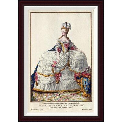 Marie Antoinette by Pierre Duflos Framed Painting Print GCF-266244-30-288