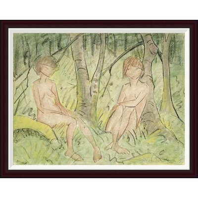 Two Women In The Forest by Otto Mueller Framed Painting Print GCF-266922-36-288