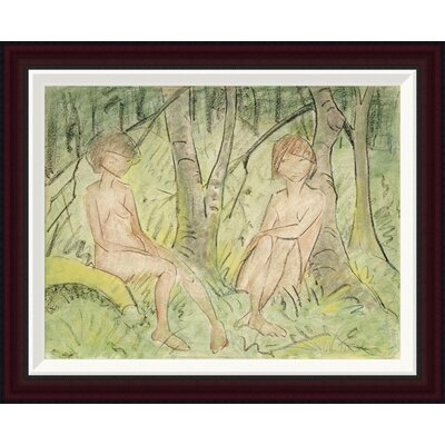 Two Women In The Forest by Otto Mueller Framed Painting Print GCF-266922-22-288