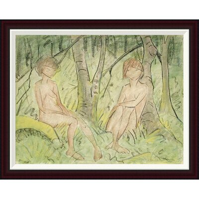 Two Women In The Forest by Otto Mueller Framed Painting Print GCF-266922-30-288