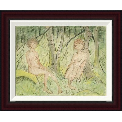 Two Women In The Forest by Otto Mueller Framed Painting Print GCF-266922-16-288