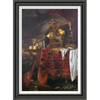 'A Basket of Mixed Fruit With Gilt Cup' by Jan Davidsz De Heem Framed Painting Print GCF-264784-30-194