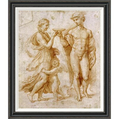 'Mercury Offering the Cup of Immortality To Psyche' by Raphael Framed Painting Print GCF-265383-30-194
