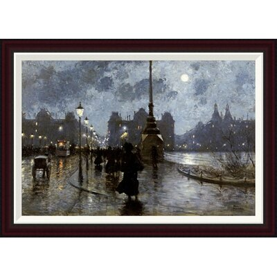 Copenhagen By Night by Paul Fischer Framed Painting Print Size: 24