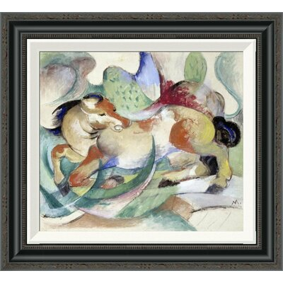 'Jumping Horse' by Franz Marc Framed Painting Print GCF-265156-16-194