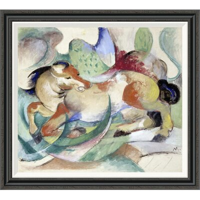 'Jumping Horse' by Franz Marc Framed Painting Print GCF-265156-30-194