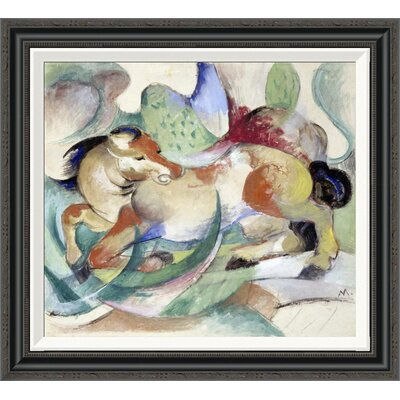 'Jumping Horse' by Franz Marc Framed Painting Print GCF-265156-22-194