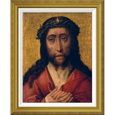 'Christ, The Man of Sorrows' by Aelbrecht Bouts Framed Painting Print Size: 28