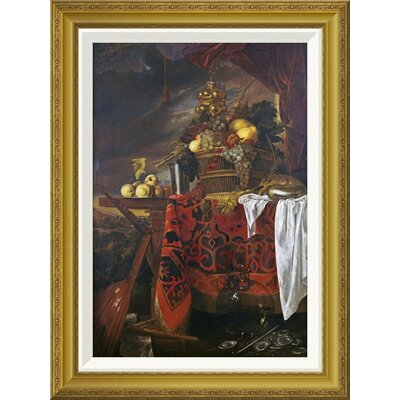 'A Basket of Mixed Fruit With Gilt Cup' by Jan Davidsz De Heem Framed Painting Print GCF-264784-22-209