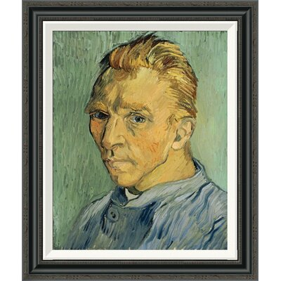 'Self Portrait Without Beard' by Vincent Van Gogh Framed Painting Print GCF-265750-22-194