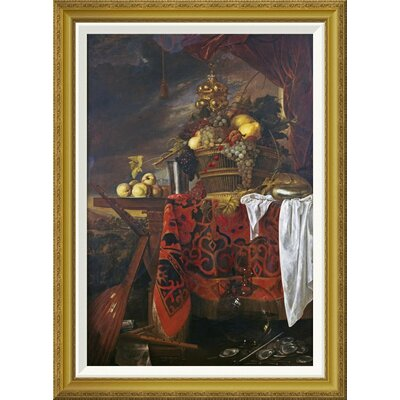 'A Basket of Mixed Fruit With Gilt Cup' by Jan Davidsz De Heem Framed Painting Print GCF-264784-30-209
