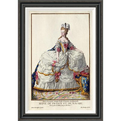 'Marie Antoinette' by Pierre Duflos Framed Painting Print GCF-266244-30-194