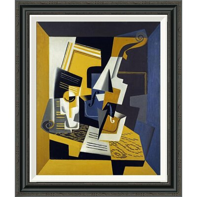 'A Violin and Glass' by Juan Gris Framed Painting Print Size: 36