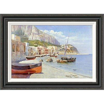 'Marina Grande, Capri' by Holgar Hvitfeld Jerichau Framed Painting Print Size: 20.46