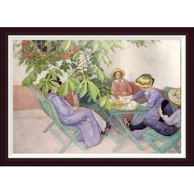 Under The Chestnut Tree by Carl Larsson Framed Painting Print Size: 28.3