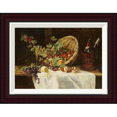 Cherries and Gooseberries In a Basket by Gertrud Trefftz Framed Painting Print Size: 15.2