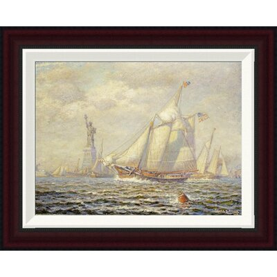 New York Harbor by James Gale Tyler Framed Painting Print Size: 15.9