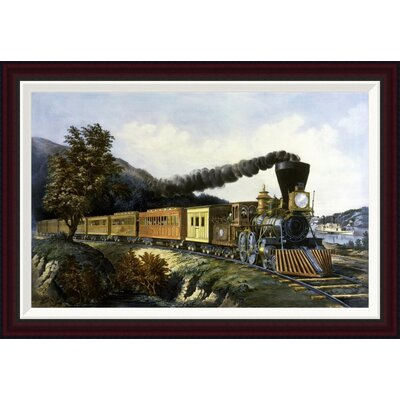 American Express Train by Currier and Ives Framed Painting Print Size: 23.2