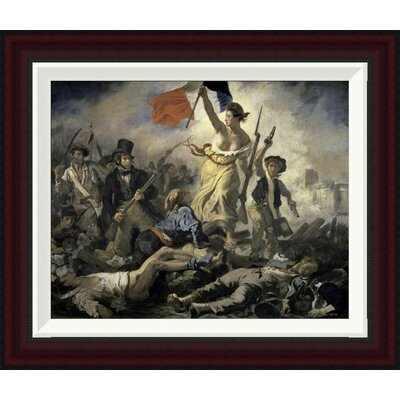 Liberty Leading the People by Eugene Delacroix Framed Painting Print Size: 16.8