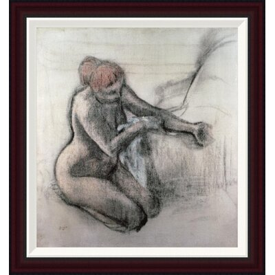 Nude Woman Drying Herself After The Bath by Edgar Degas Framed Painting Print GCF-277331-22-288