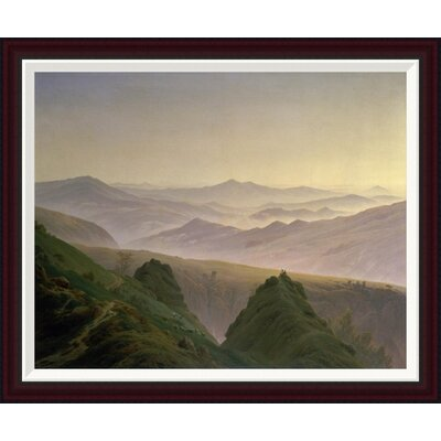 Morning in the Mountains by Caspar David Friedrich Framed Painting Print Size: 27.9