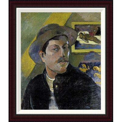 Portrait of the Artist, (Portrait de l'Artiste) (i) by Paul Gauguin Framed Painting Print GCF-277645-22-288