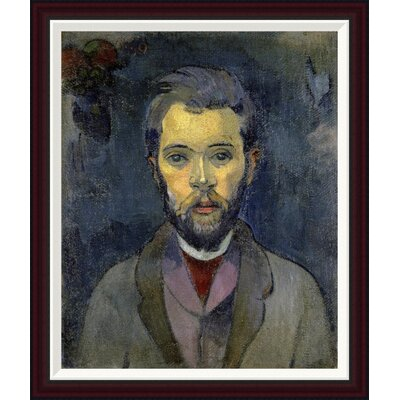 Portrait of the Artist, (Portrait de l'Artiste) (ii) by Paul Gauguin Framed Painting Print GCF-277646-30-288
