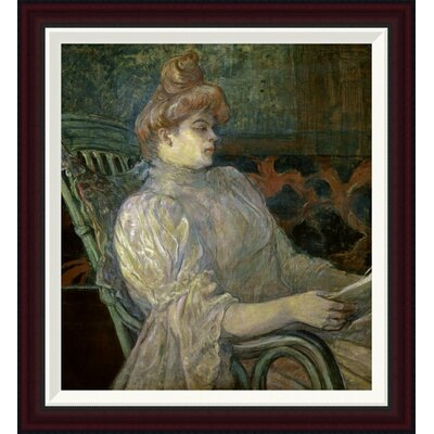 Woman Reading (Femme Lisant) by Henri Toulouse-Lautrec Framed Painting Print GCF-278197-22-288