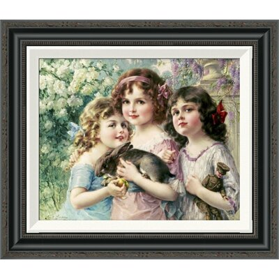 'The Three Graces' by Emile Vernon Framed Painting Print GCF-267523-16-194