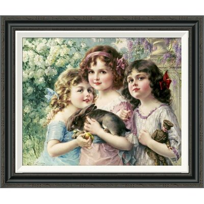 'The Three Graces' by Emile Vernon Framed Painting Print GCF-267523-22-194