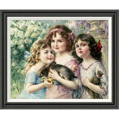 'The Three Graces' by Emile Vernon Framed Painting Print GCF-267523-30-194