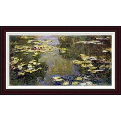 Water Lily Pond (Le Bassin aux Nymph�as) by Claude Monet Framed Painting Print GCF-278712-30-288