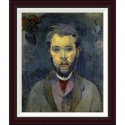 Portrait of the Artist, (Portrait de l'Artiste) (ii) by Paul Gauguin Framed Painting Print GCF-277646-22-288