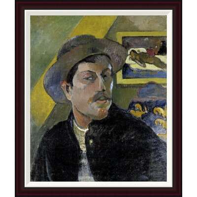Portrait of the Artist, (Portrait de l'Artiste) (i) by Paul Gauguin Framed Painting Print GCF-277645-30-288