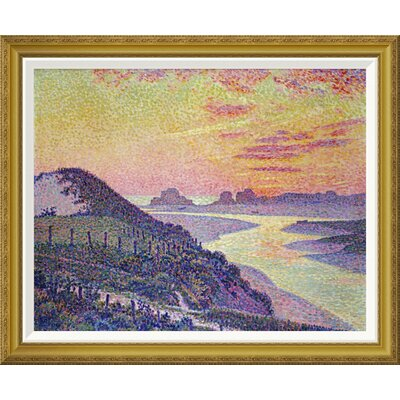 'Sunset at Ambleteuse, Pas De Calais' by Theo Van Rysselberghe Framed Painting Print Size: 29.67
