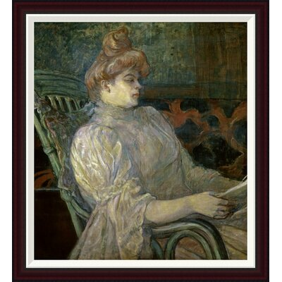 Woman Reading (Femme Lisant) by Henri Toulouse-Lautrec Framed Painting Print GCF-278197-30-288