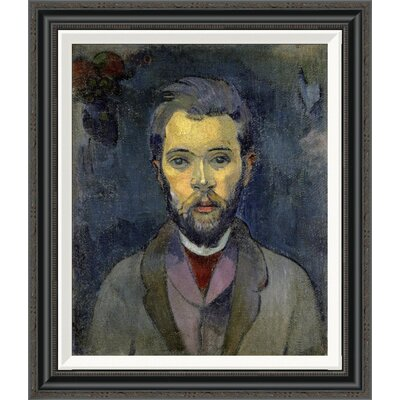 'Portrait of the Artist, (Portrait de l'Artiste) (ii)' by Paul Gauguin Framed Painting Print GCF-277646-22-194