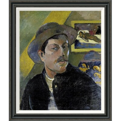 'Portrait of the Artist, (Portrait de l'Artiste) (i)' by Paul Gauguin Framed Painting Print GCF-277645-30-194