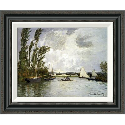 'The Small Branch of the Seine at Argenteuil' by Claude Monet Framed Painting Print Size: 33.69
