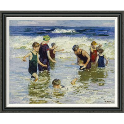 'The Bathers' by Edward Henry Potthast Framed Painting Print GCF-268400-36-194
