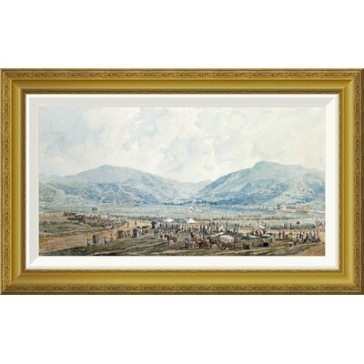 "'A View of Happy Valley Race Course, Hong Kong' by Marciano Baptista Framed Painting Print Size: 17.44"" H x 28"" W x 1.5"" D GCF-265894-22-209"