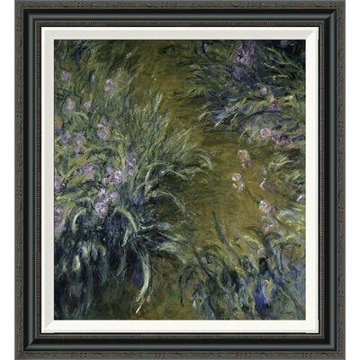 'The Path Through the Irises' by Claude Monet Framed Painting Print Size: 28