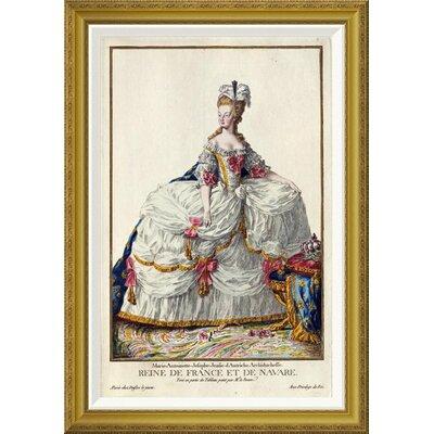 'Marie Antoinette' by Pierre Duflos Framed Wall Art GCF-266244-30-209