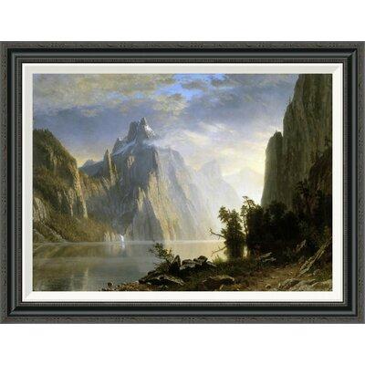 'A Lake in the Sierra Nevada' by Albert Bierstadt Framed Painting Print GCF-276733-30-194